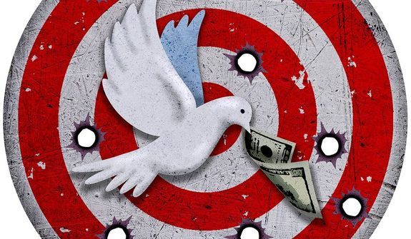 Illustration on the Middle East peace process by Greg Groesch/The Washington Times