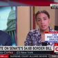 """CNN'S Jake Tapper questions New York Rep. Alexandria Ocasio-Cortez about her criticism of """"concentration camps"""" along the U.S. border with Mexico, June 27, 2019. The Democrat was asked if she called detention centers the same thing when former president's Bill Clinton and Barack Obama occupied the White House. (Image: CNN screenshot)"""
