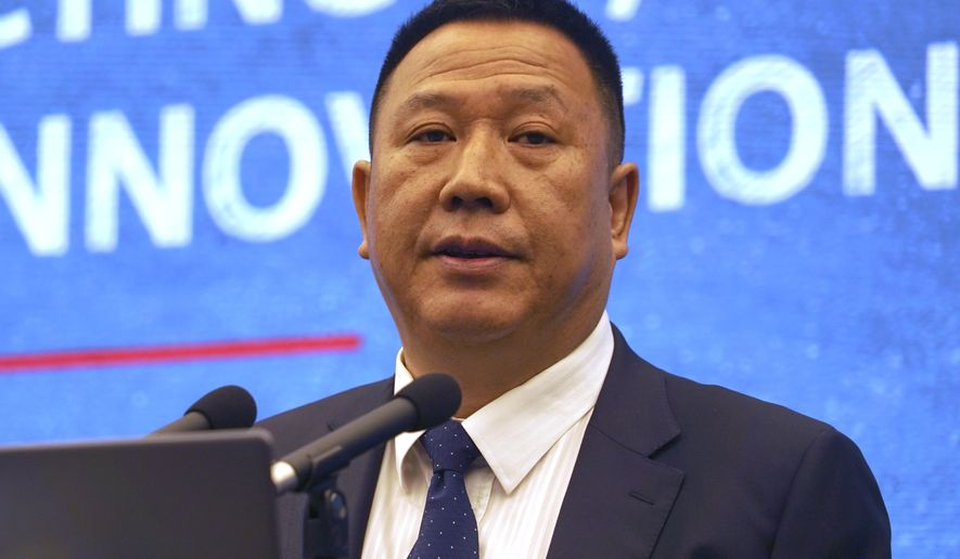 "Huawei's Chief Legal Officer Song Liuping speaks at a press conference at the company's headquarters in Shenzhen in southern China's Guangdong province, Thursday, June 27, 2019. Chinese tech giant Huawei has warned a U.S. proposal to block the company from pursuing damages in the country's patent courts would be a ""catastrophe for global innovation."" (AP Photo/Dake Kang)"