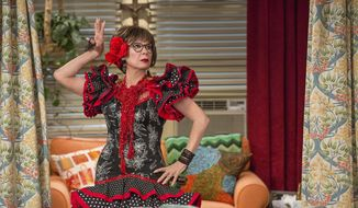 "This image released by Netflix shows Rita Moreno in a scene from ""One Day At A Time."" The series, a remake of the 1970's-80's Norman Lear TV series, centers on a Cuban-American family. The series, which was canceled by Netflix, will continue with a new 13-episode fourth season premiering on Pop TV in 2020. (Michael Yarish/Netflix via AP)"