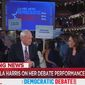 """MSNBC's Chris Matthews talks with Sen. Kamala Harris on June 27, 2019, about her debate performance. The """"Hardball"""" host wanted to know how the California Democrat could go through life without """"hatred"""" for white people. (Image: MSNBC screenshot)"""