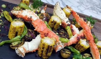 The Red King Crab Bake at BLT Prime in in Washington, D.C. (Photograph by Jacquie Kubin /  Special to The Washington Times)