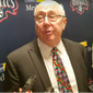 Washington Mystics coach Mike Thibault speaks to reporters after the Mystics beat the Connecticut Sun 102-59 on Saturday, June 29, 2019 at the Entertainment and Sports Arena in Washington, D.C. (Photo by Adam Zielonka)