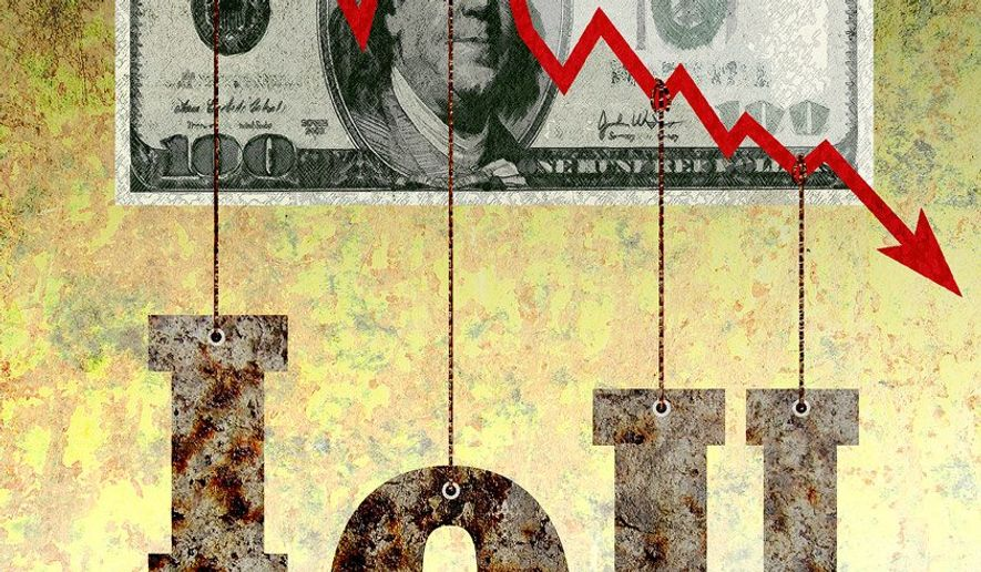 Debt is Bad Illustration by Greg Groesch/The Washington Times