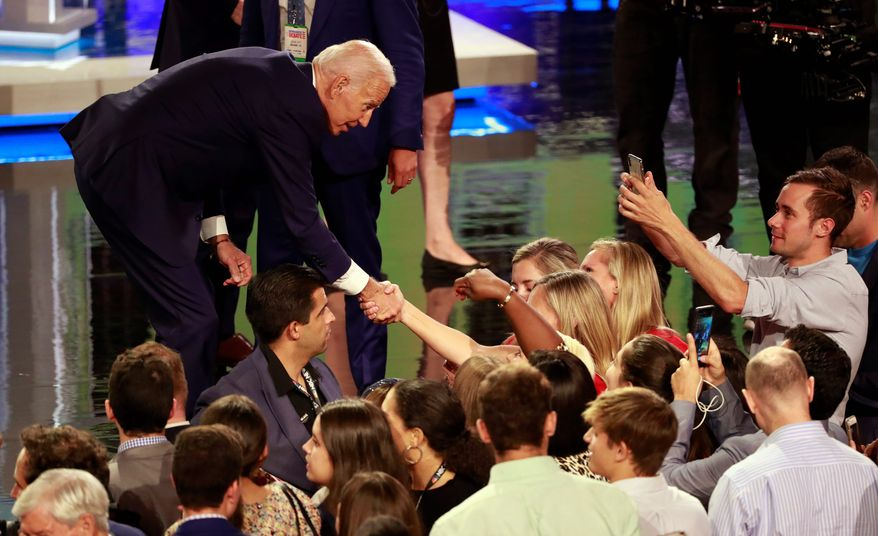 Former Vice President Joseph R. Biden struggled to connect with attendees at a fundraiser in Seattle just one day after another gaffe. (Associated Press)
