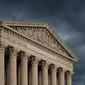 The Supreme Court is seen under stormy skies in Washington, Thursday, June 20, 2019. (AP Photo/J. Scott Applewhite) (Associated Press) **FILE**