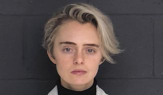 This Feb. 11, 2019, booking photo released by the Bristol County Sheriff's Office shows Michelle Carter, convicted for sending a barrage of text messages urging boyfriend Conrad Roy III to kill himself. Roy took his own life in Fairhaven, Mass., in July 2014. (Bristol County Sheriff's Office via AP, File)