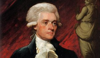 This 1786 portrait of Thomas Jefferson by artist Mather Brown. (AP Photo)