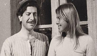 """This image released by Roadside Attractions shows Leonard Cohen and Marianne Ihlen in a scene from the documentary """"Marianne & Leonard: Words of Love."""" (Roadside Attractions via AP)"""