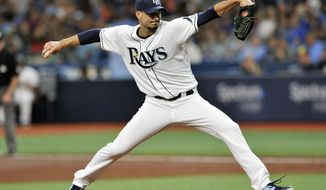 Tampa Bay Rays starter Charlie Morton pitches against the Baltimore Orioles during the second inning of a baseball game Tuesday, July 2, 2019, in St. Petersburg, Fla. (AP Photo/Steve Nesius)