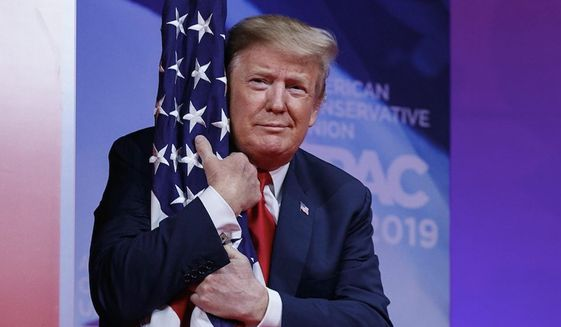 President Trump's Independence Day observance is meant to honor the U.S. military and the traditional spirit of the American people. (Associated Press)
