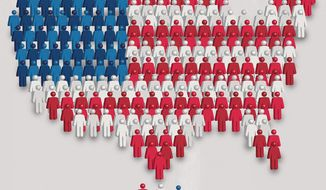 Illustration on the census by Linas Garsys/The Washington Times