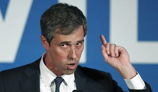 Democratic presidential candidate Beto O'Rourke speaks during the I Will Vote Fundraising Gala in Atlanta, in this June 6, 2019, file photo. (AP Photo/John Bazemore) ** FILE **