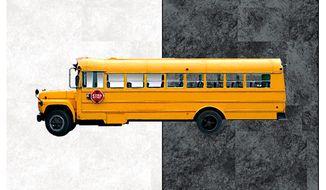 Illustration on school busing by Alexander Hunter/The Washington Times