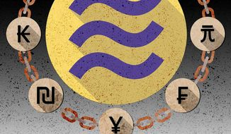 Libra Digital Currency Illustration by Greg Groesch/The Washington Times