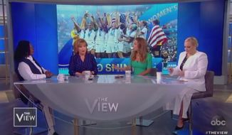 "Members of the panel on ABC's ""The View"" discuss U.S. women's soccer, July 8, 2019. (Image: ABC, ""The View"" screenshot)"
