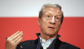 "Democratic candidate Tom Steyer, who announced Tuesday that he was entering the presidential race, said he was watching the campaign and felt as if he ""couldn't sleep."" (Associated Press/File)"