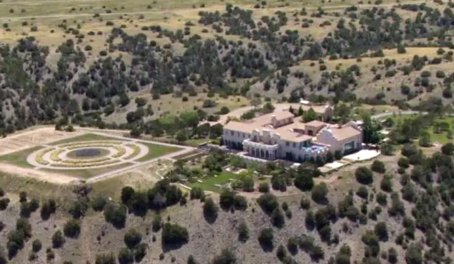Jeffrey Epstein's Zorro Ranch in Stanley, N.M., is shown Monday, July 8, 2019. Epstein is entangled in two legal fights that span the East Coast, challenging his underage sexual abuse victims in a Florida court hours after he was indicted on sex trafficking charges in a separate case in New York. (KRQE via AP)