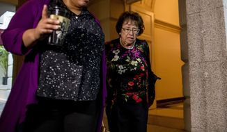 House Appropriations Committee Chair Nita Lowey, D-N.Y., arrives for a House Democratic caucus meeting on Capitol Hill in Washington, Wednesday, July 10, 2019. (AP Photo/Andrew Harnik)