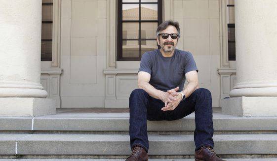"This June 11, 2019 photo shows actor, comedian and podcaster Marc Maron posing for a portrait in Los Angeles to promote his new indie comedy ""Sword of Trust."" (Photo by Rebecca Cabage/Invision/AP)"