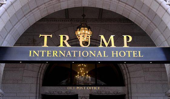 The north entrance of the Trump International in Washington D.C. (AP Photo/Mark Tenally, File)