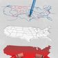 Illustration on gerrymandering by Linas Garsys/The Washington Times
