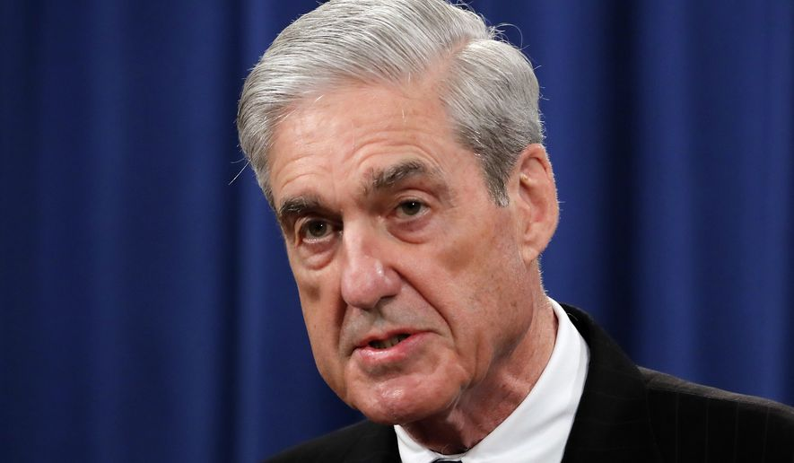 In this May 29, 2019, photo, special counsel Robert Mueller speaks at the Department of Justice in Washington, about the Russia investigation. House Democrats say preparations for next week's testimony by the special counsel in the Russia investigation include re-reading the report and watching old video of Mueller's testimony on other matters. (AP Photo/Carolyn Kaster) **FILE**