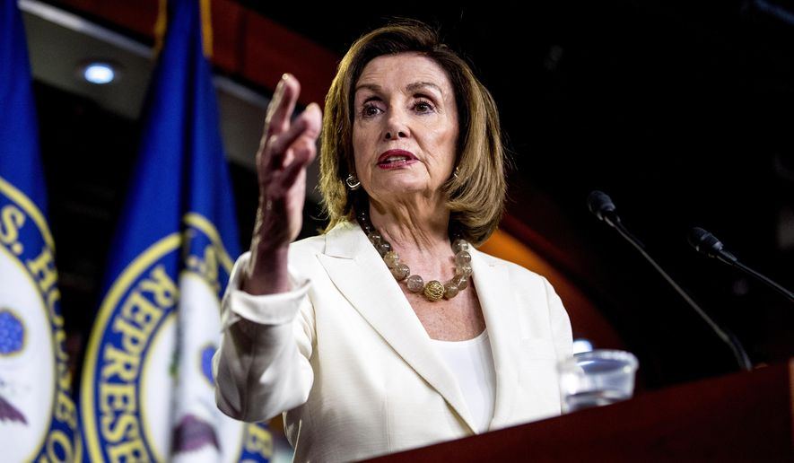 "House Speaker Nancy Pelosi said Rep. Alexandria Ocasio-Cortez and other liberal freshmen ""took offense because I addressed, at the request of my members, an offensive tweet that came out of one of our member's offices that referenced our Blue Dogs and our New Dems essentially as segregationists."" (Associated Press)"