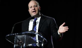 Colorado Gov. Jared Polis speaks during the Western Conservative Summit on Friday, July 12, 2019, in Denver. (AAron Ontiveroz/The Denver Post via AP)