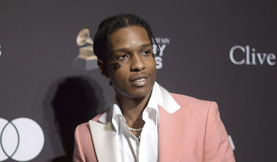 This Feb. 9, 2019, file photo shows A$AP Rocky at Pre-Grammy Gala And Salute To Industry Icons in Beverly Hills, Calif. (Photo by Richard Shotwell/Invision/AP, File)