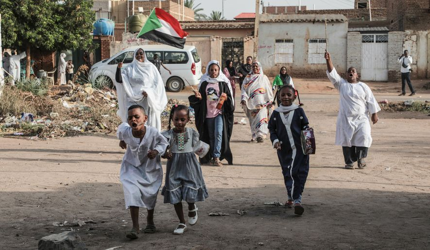 Sudanese people celebrated in the streets of Khartoum after ruling generals and protest leaders announced July 5 that they had reached an agreement on a new governing body, raising hopes for an end to a paralyzing three-month political crisis. (Associated Press/File)