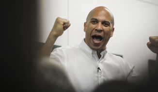 Democratic presidential candidate, New Jersey Sen. Cory Booker in Manchester, N.H., Saturday, July 13, 2019. (AP Photo/ Cheryl Senter)