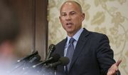 Attorney Michael Avenatti, who says he represents three victims of singer R. Kelly, three whisleblowers who have information about the case and three parents of victims, speaks to reporters during a news conference in Chicago, Monday, July 15, 2019.   Avenatti says that at least one of the whistleblowers made copies of the tapes that Avenatti ultimately turned over to Cook County State's Attorney Kim Foxx. (AP Photo/Amr Alfiky)
