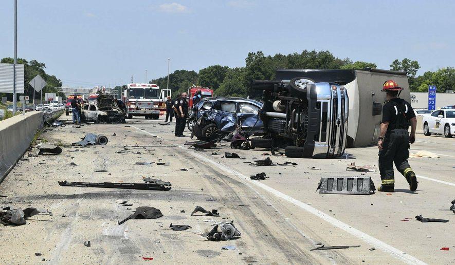 Police say trucker speeding in Indiana crash that killed 3