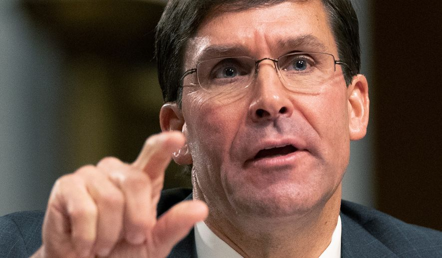 Secretary of Defense nominee Mark T. Esper, who spent nearly seven years as a Raytheon executive, appears to be on the fast track to replacing James Mattis. (ASSOCIATED PRESS)