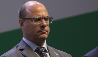 FILE - In this Jan. 3, 2019 file photo, Rio de Janeiro Gov. Wilson Witzel attends the swearing-in ceremony for the new president of state-run oil company Petrobras, Roberto Castello Branco, in Rio de Janeiro, Brazil. Witzel said Tuesday, July 16, 2019, that it is natural that deaths by the police will continue to rise during his term in office as a consequence of a policy of confrontation with terrorists. (AP Photo/Leo Correa, File)