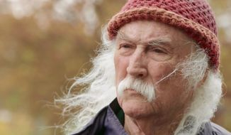 """This image released by Sony Pictures Classics shows musician David Crosby in a scene from the documentary """"David Crosby: Remember My Name."""" (Sony Pictures Classics via AP)"""