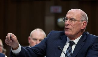 President Trump may soon be replacing Director of National Intelligence Dan Coats. (Associated Press)