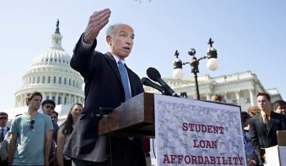 """""""Passage of this bill will lift the shadow that overhangs employer-sponsored plans and stop the high-deductible problem from worsening,"""" bill sponsor Rep. Joe Courtney, Connecticut Democrat, said. (Associated Press)"""