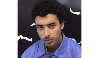 Undated photo issued Wednesday, July 17, 2019, by Force for Deterrence in Libya, showing Hashem Abedi, the brother of Manchester Arena bomber Salman Abedi. British police said Wednesday that Hashem Abedi, a key suspect in the 2017 Manchester Arena bombing that killed 22 people, has been arrested at a London airport after being extradited from Libya. (Force for Deterrence in Libya via AP)