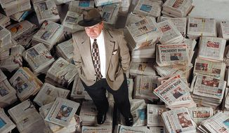Washington Times Editor In Chief Wesley Pruden. ( Maya Alleruzzo / The Washington Times )