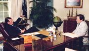 Wesley Pruden and President George H. Bush