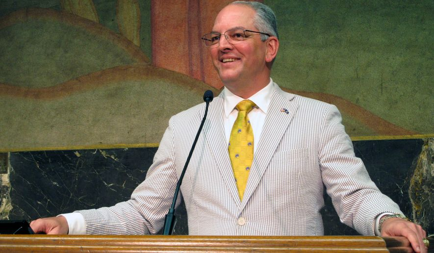 Louisiana Gov. John Bel Edwards, a Democrat, likely faces a complicated path to reelection in 2020. President Trump won the state by 20 points in 2016. (Associated Press Photographs)
