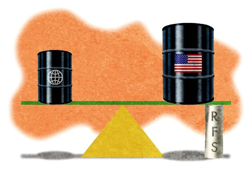 Illustration on government interference with the energy market by Alexander Hunter/The Washington Times