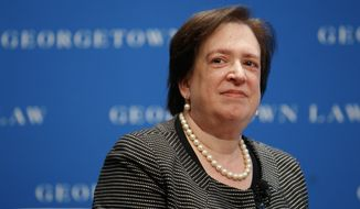 U.S. Supreme Court Justice Elena Kagan attends an event at Georgetown Law, Thursday, July 18, 2019, in Washington. (AP Photo/Jacquelyn Martin)
