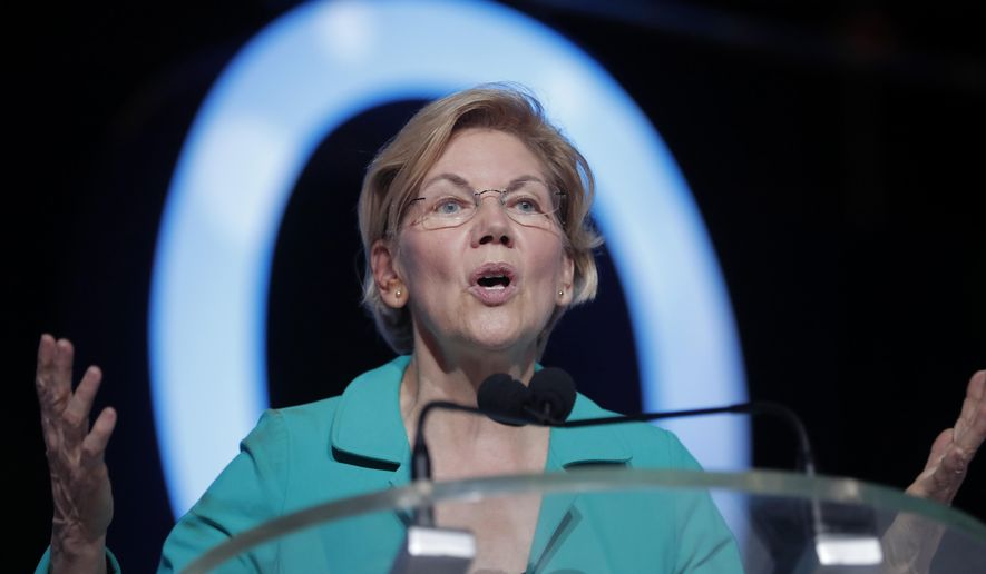 Democratic presidential candidate, Sen. Elizabeth Warren, D-Mass., speaks at the 25th Essence Festival in New Orleans, Saturday, July 6, 2019. (AP Photo/Gerald Herbert)