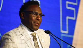 Vanderbilt head coach Derek Mason speaks to reporters during the NCAA college football Southeastern Conference Media Days, Thursday, July 18, 2019, in Hoover, Ala. (AP Photo/Butch Dill)