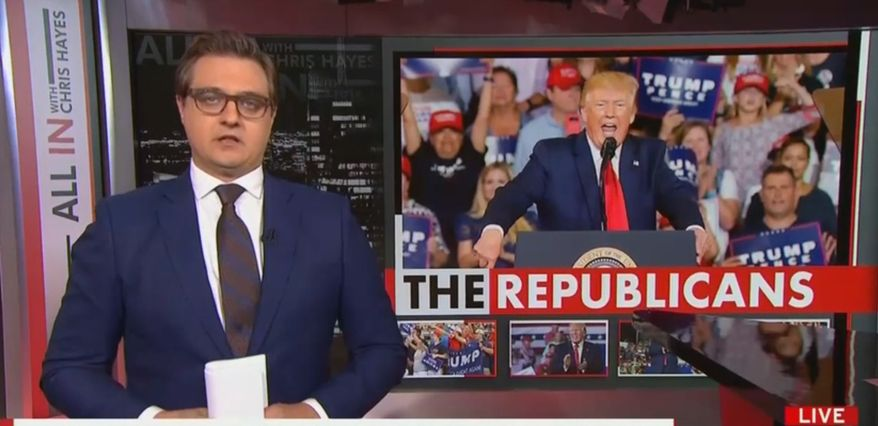 MSNBC's Chris Hayes discusses President Trump and his base of support, July 18, 2019. (Image: MSNBC screenshot) ** FILE **