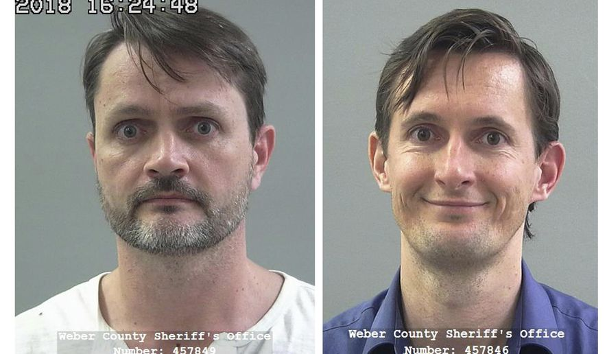 FILE - These undated file photos released by the Weber County Sheriff's Office show Jacob Kingston, left, and Isaiah Kingston. Two executives of a Salt Lake City biodiesel company linked to a polygamous group are pleading guilty to charges filed in a $511 million tax credit scheme. Court documents made public on Friday, July 19, 2019, show Jacob Kingston and Isaiah Kingston with the company Washakie Renewable Energy have pleaded guilty to charges including money laundering, mail fraud and conspiracy. (Weber County Sheriff's Office via AP, File)