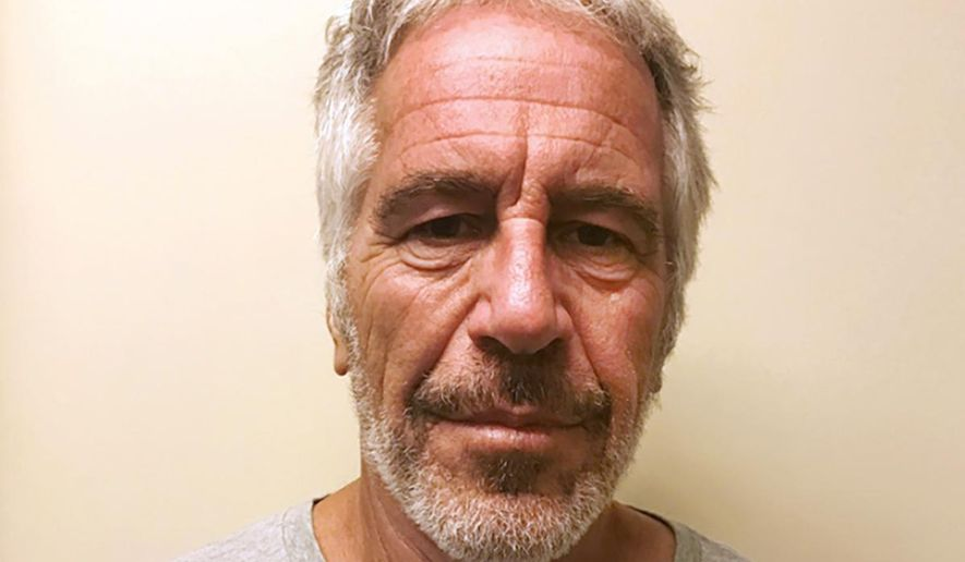 """This March 28, 2017, file photo, provided by the New York State Sex Offender Registry shows Jeffrey Epstein. A judge denied bail for jailed financier Jeffrey Epstein on sex trafficking charges Thursday, July 18, 2019, saying the danger to the community that would result if the jet-setting defendant was free formed the """"heart of this decision."""" (New York State Sex Offender Registry via AP)"""